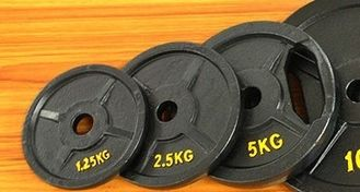 China Weight Loss 5 KGS Gym Weight Plates Custom Color 26 - 28mm Bore Diameter supplier