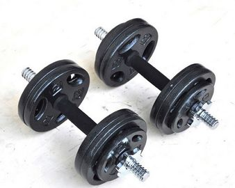 China 3 Holes Olympics Rubber Coated Dumbbell Set , Cast Iron Dumbbell Set supplier