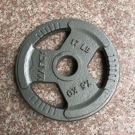 China Family Cast Iron Weight Plates / Olympic Weight Plates 7.5KGS For Build Muscle supplier