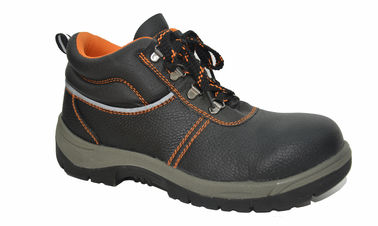 China Comfortable Steel Toe Work Shoes , Genuine Leather Work Shoes Anti Shock supplier