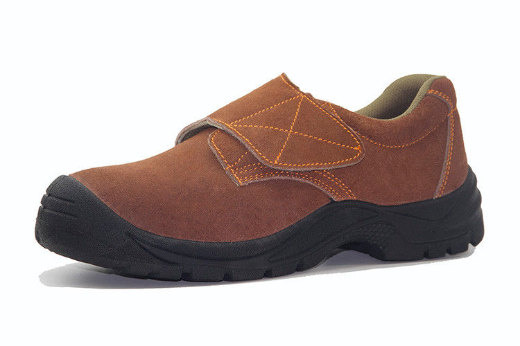 Multi Color Suede Leather Shoes Pu Injection Dual Density Outsole For Construction Site