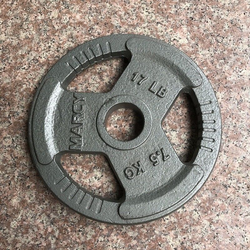 Family Cast Iron Weight Plates / Olympic Weight Plates 7.5KGS For Build Muscle