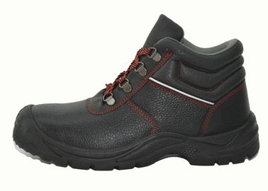 China Municipal Services Genuine Leather Work Shoes Black PU Injection Outsole factory