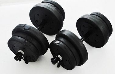 China 10KG Adjustable Dumbbell Set , Dumbbell Weight Set Solid Iron Bar Material factory
