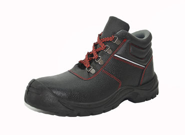 Impact - Proof Genuine Leather Work Shoes PU Outsole Acid And Alkali Resistance