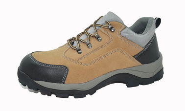 Outdoor Construction Site Suede Work Shoes For Men , Mens Brown Suede Shoes