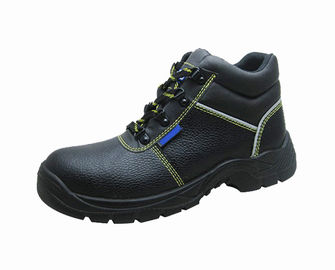Real Leather Upper Suede Work Shoes PU Injection Outsole With Double Density