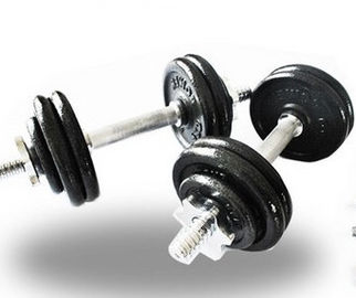 20KG Adjustable Dumbbell Set , Spinlock Dumbbell Set With Chrome Plated Iron Bar