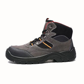 Suede Leather Upper Men Work Shoes / Steel Toe Sneakers Rubber Cementing Outsole
